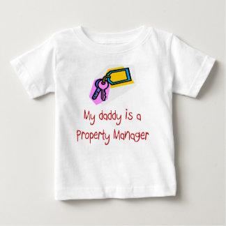 El papá es una camiseta del bebé del administrador playera