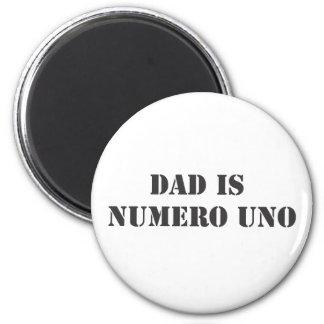 el papá es uno del numero imán