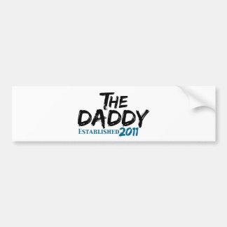 El papá Est 2011 Etiqueta De Parachoque