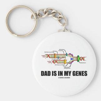 El papá está en mis genes (la réplica de la DNA) Llavero