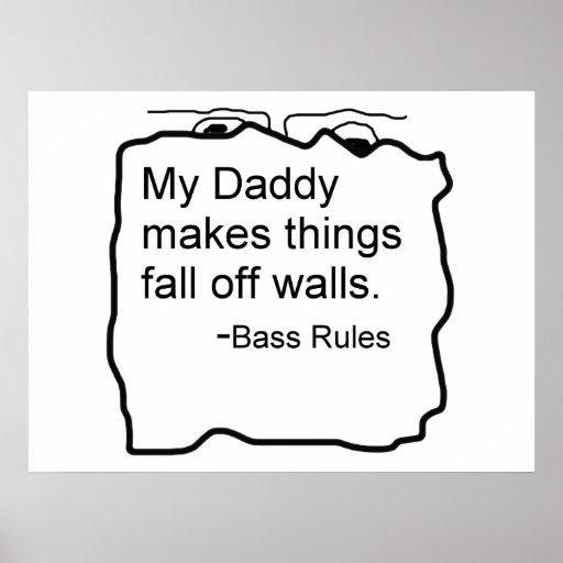 El papá hace caída de las cosas de reglas del bajo impresiones
