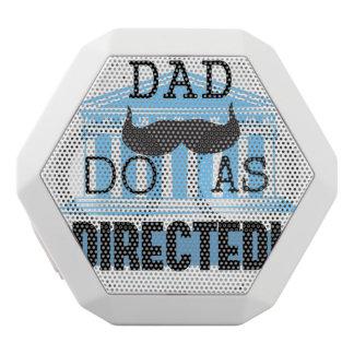 """El papá """"hace como"""" altavoces dirigidos altavoces bluetooth blancos boombot REX"""