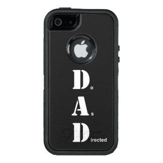 El PAPÁ, hace según lo dirigido Funda OtterBox Defender Para iPhone 5