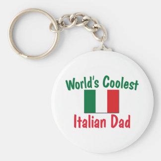 El papá italiano más fresco del mundo llavero redondo tipo pin