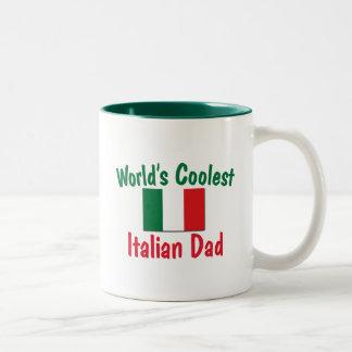 El papá italiano más fresco del mundo taza de dos tonos