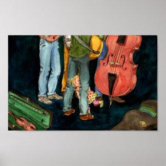 el papá juega el poster del bluegrass