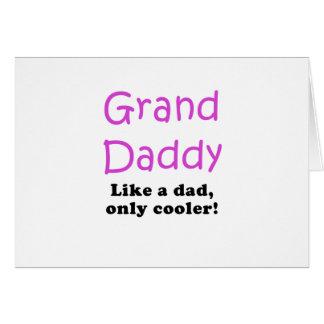 El papá magnífico tiene gusto de un papá solamente tarjeta de felicitación
