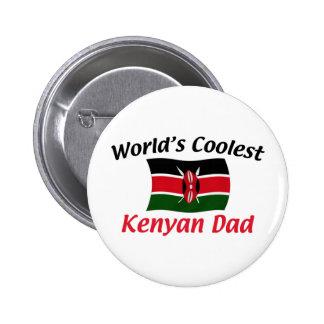 El papá más fresco del Kenyan Pin Redondo De 2 Pulgadas