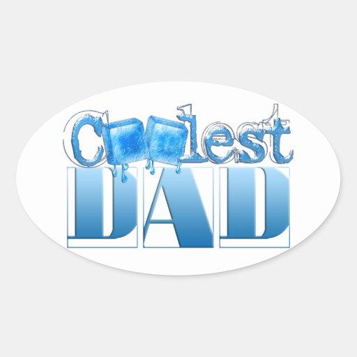 El papá más fresco del mundo pegatina ovalada