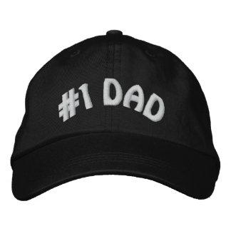 El papá más grande #1 del número uno de los mundos gorra bordada