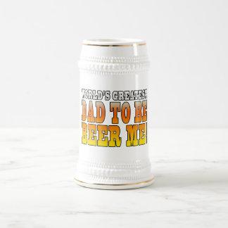 El papá más grande de los mundos divertidos de las jarra de cerveza