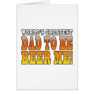 El papá más grande de los mundos divertidos de las tarjeta de felicitación