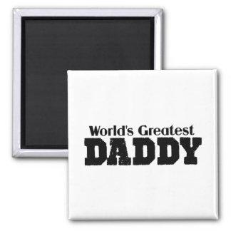 El papá más grande de los mundos imán cuadrado