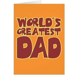 El papá más grande de los mundos tarjeta