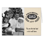 El papá más grande de los mundos tarjeta de felicitación