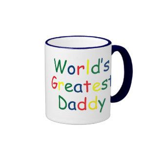 El papá más grande de los mundos taza de dos colores