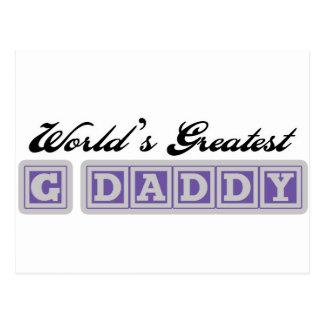 El papá más grande del G del mundo Tarjetas Postales