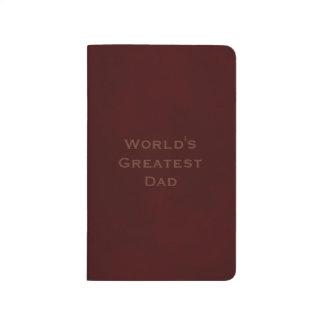 El papá más grande del mundo abigarrado de Brown Cuaderno Grapado