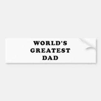 El papá más grande del mundo etiqueta de parachoque