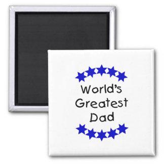 El papá más grande del mundo (DK. estrellas azules Imán Cuadrado