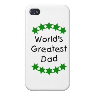 El papá más grande del mundo (estrellas del verde) iPhone 4 carcasas