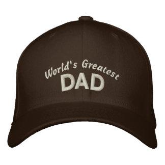 El papá más grande del mundo gorra de beisbol