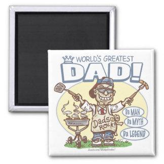 El papá más grande del mundo imán cuadrado