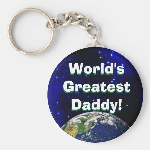 ¡El papá más grande del mundo! Llavero
