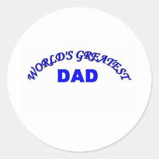 El papá más grande del mundo pegatinas redondas