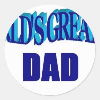 El papá más grande del mundo etiqueta redonda