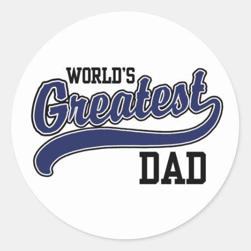 El papá más grande del mundo pegatina redonda