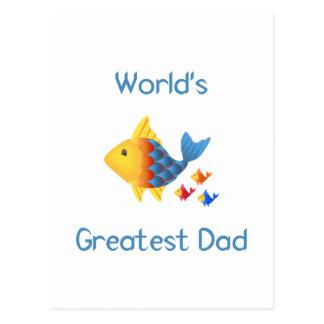 El papá más grande del mundo (pescados) tarjeta postal