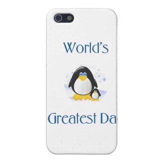 El papá más grande del mundo (pingüino) iPhone 5 carcasa