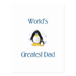 El papá más grande del mundo (pingüino) postales