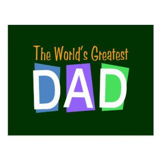 El papá más grande del mundo retro postal