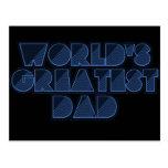 El papá más grande del mundo tarjeta postal
