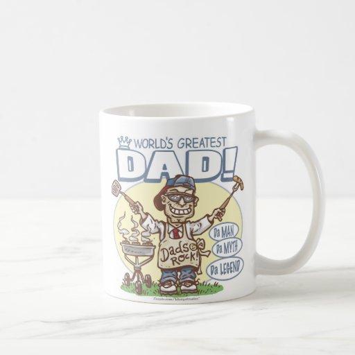 El papá más grande del mundo taza básica blanca