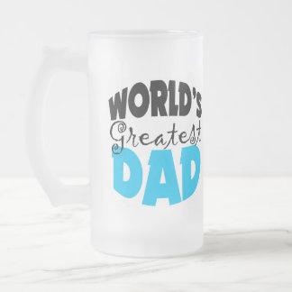 El papá más grande del mundo taza de cristal