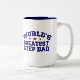 El papá más grande del paso del mundo taza de café de dos colores