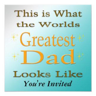 El papá más grande - invitación del día de padre invitación 13,3 cm x 13,3cm