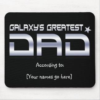 El papá más grande Mousepad de la galaxia adaptabl Tapete De Ratón