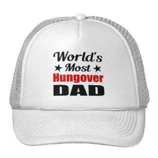 El papá más hungover del mundo divertido gorros
