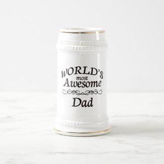 El papá más impresionante del mundo jarra de cerveza