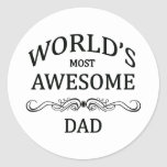El papá más impresionante del mundo etiquetas redondas