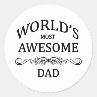 El papá más impresionante del mundo pegatina redonda