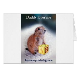 """El """"papá me ama"""" ropa del bebé tarjeta de felicitación"""