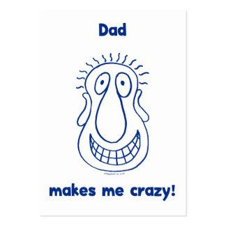 El papá me conduce loco tarjeta de visita