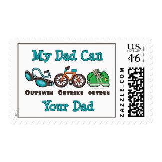 El papá Outswim sellos superados Outbike del Triat