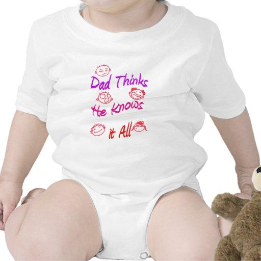 El papá piensa que él lo sabe todo trajes de bebé