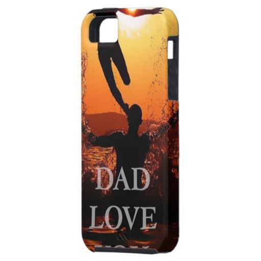 El papá, regalo del día de padres, le ama papá iPhone 5 carcasas